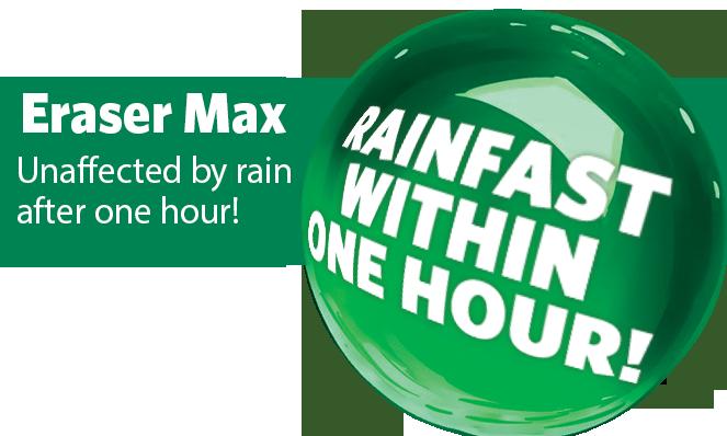 Eraser Max Rainfast graphic